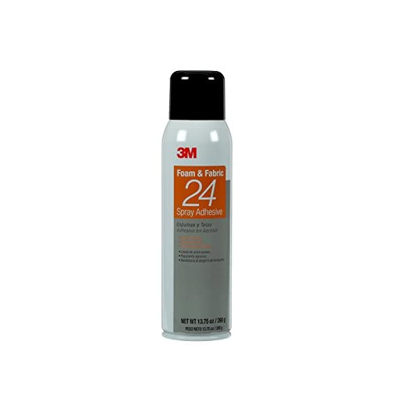 3M Foam & Fabric 24 Spray Adhesive Orange, 20 fl Ounce can, Net Weight 13. 75 Ounce (Pack of 1)