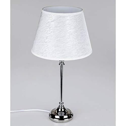 Unbekannt Lampe de table lampe design élégant Pied Métal Abat-jour gris argenté tichle uchte Lampe