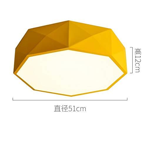 Arte creativa ristorante lampada da studio diametro 51cm giallo bianco e nero luce bianca