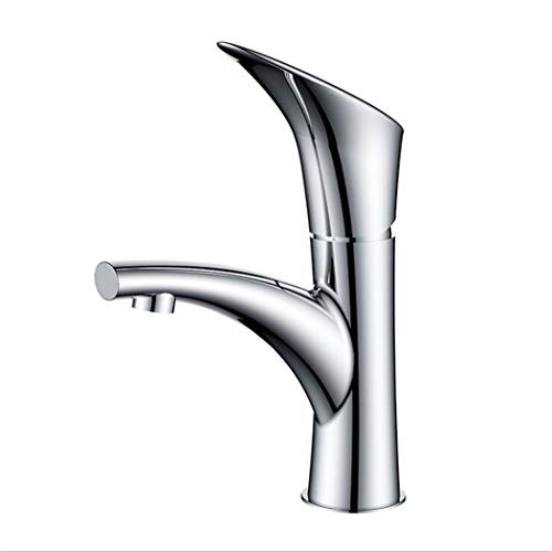 Waschtischarmatur Spültisch Badarmatur Kupfer Europäische Modernisierung Von Kaltem Und Heißem Einloch-Kaltwasser Für Unterwasserbatterie Der Waschtischplattform