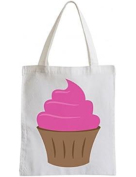 Raxxpurl Pink Cupcake Fun Jutebeutel