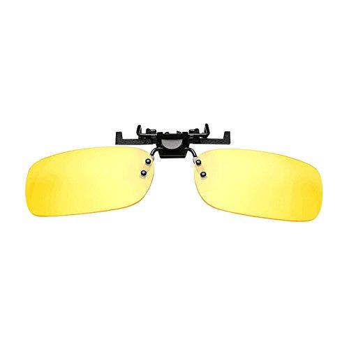 HD Nachtsicht Polarisierte Polarisations Sonnenbrille Auto Driving Clip Sonnenschirm Schutzbrillen Blendschutz Anti-Blendung Fernlicht Tag & Nacht Starkes Licht Fahren Gläser Mit Fall & Gläser Tuch