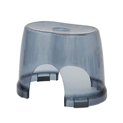 SONGDP Duschstuhl Badehocker Kunststoff Duschsitz Hocker Fußwaschhocker Fashion Safety Slip Kind Bad Hocker Multifunktions Transparent (Hellblau) Duschhocker Badsitz mit