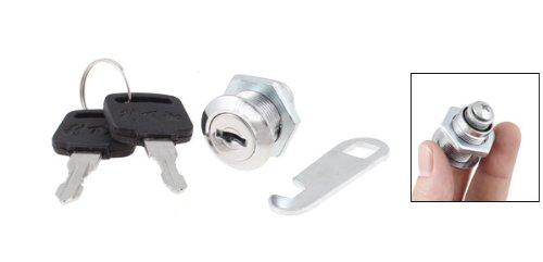 sourcingmap® Schranktür-Cam 18 mm Gewinde Schrankschloss, Flanschbefestigung, mit Schlüsseln