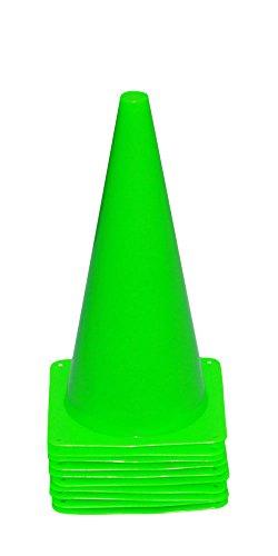 10er Set Markierkegel, 38 cm, hellgrün