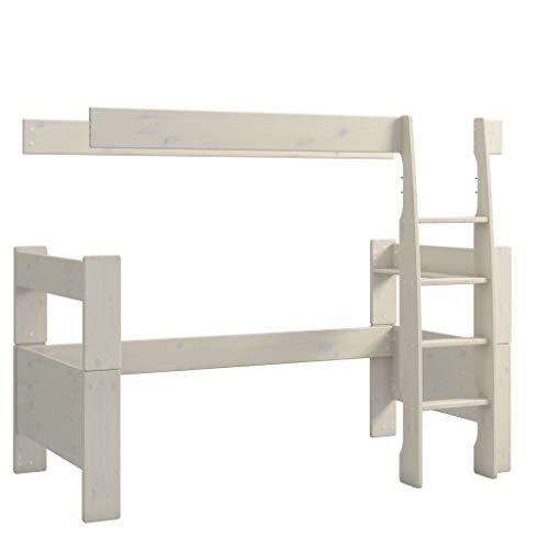 Steens For Kids Umbausatz vom Kinderbett For Kids zum Hochbet, Liegefläche 90 x 200 cm, Kiefer massiv, weiss