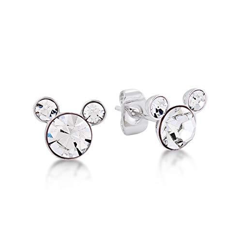 Disney mickey mouse aprile cristallo swarovski pietra di nascita orecchini