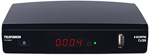 Telefunken TF-C9210 Full HD Kabel Receiver (DVB-C, HDTV, Media Player, EPG, HDMI, USB)