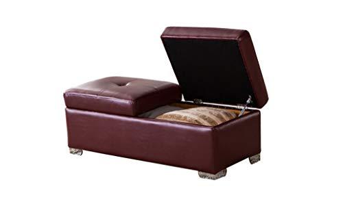 Braun Lagerung Couch (Fußhocker Kinderhocker Wohnzimmer Couch Hocker Lagerung Schuhe Hocker Aufbewahrungsbox, Multi-color Optional Geeignet für Veranda im Freien Reisekindergarten ( Color : Brown , Size : 120*50*40cm ))