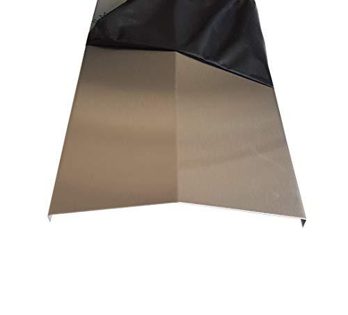 Acier inoxydable Aroma Rail 365 mm (36,5 cm) longue flamme Répartiteur Barbecue à gaz flamme Tôle 0,8 mm V2 A K240 Schenkel: 75x75mm Grad: 100°