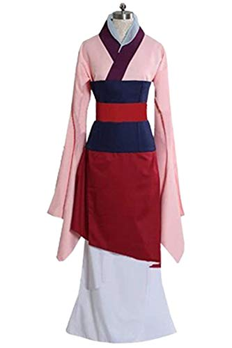 MingoTor Prinzessin Weiblicher Superheld Superhero Dress Female General Chinese Traditional Costumes Hanfu Cosplay Kostüm Rosa Damen XXXL