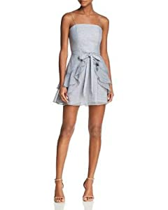 C/MEO COLLECTIVE Womens Ivory Tie Front Strapless Mini A-Line Party Dress Size: S