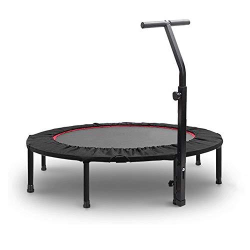 """DUXX - 40\""""Mini-Trampolin Mit Armlehnen Und Klappbaren Beinen Zur Gewichtsreduktion, Für Den Indoor-Garten Geeignet (maximales Gewicht 200 Kg, Schwarz) Innentrampolin"""