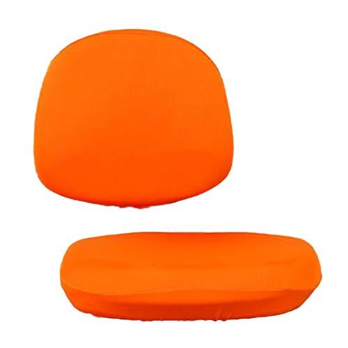 Forro Suave para Silla de Oficina con Forro Giratorio - Naranja