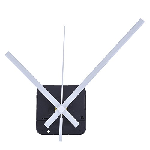 Lange Spindel Quarz Uhrwerk, Maximale Zifferblatte von 1/2Zolldick,Gesamtschaftlänge von 9/10 Zoll (Weiß)