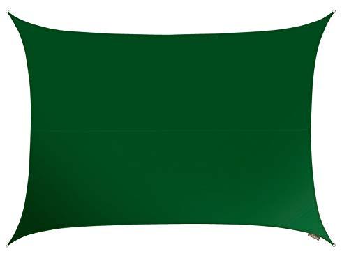 Kookaburra Wasserfest Sonnensegel 5,0m x 4,0m Rechteck Grün