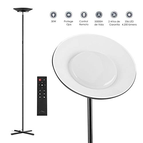Lámparas pie, Wellwerks 30W LED Lámpara LED piso