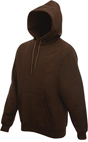 Fruit of the Loom - Kapuzen-Sweatshirt 'Hooded Sweat' XL,Chocolate (Braun Sweatshirts Für Männer)