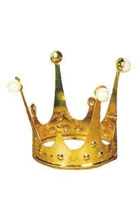 Krone Gold Metallkrone Krönchen Prinzessinnenkrone Märchen Königin Königskrone Märchenkrone Märchenprinzessin Märchenkönigin Princess Kopfschmuck Haarschmuck Accessoire (Krone Gold Kostüm)