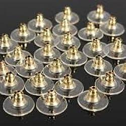 Earring metal stopper locks, pack of 50 pcs