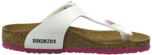Birkenstock Gizeh, Tongs mixte enfant Blanc (Vernis Blanc/Ls Pink)