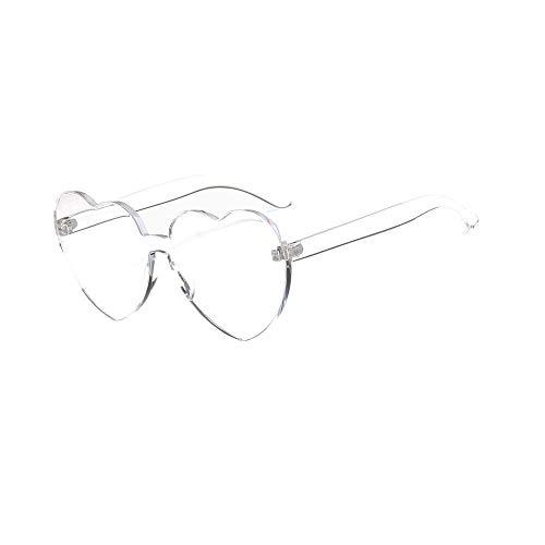 VRTUR 1 Stück Damen Metall Sonnenbrillen Nettes Herz-Form-Design Objektiv Outdoor Brillen Form Sonnenbrillen Unisex(One size,H)