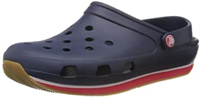 Crocs Retro, Unisex-Adults' Clogs, Blue (Navy/Red), 3 UK Men/4 UK Women