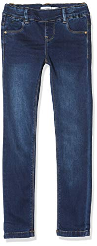 NAME IT Mädchen Nkfpolly Dnmtora 3238 Legging Noos Jeans, Blau (Dark Blue Denim Dark Blue Denim), (Herstellergröße:158)