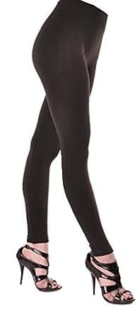 FABULOUS NEW FLEECE LINED THERMAL BODYSHAPER BLACK LEGGINGS SZ 10 - 20 (XL / XXL (UK 16 / 18 / 20))