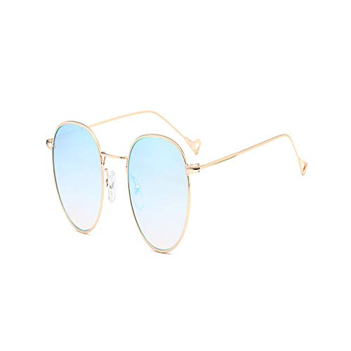 Sport-Sonnenbrillen, Vintage Sonnenbrillen, Vintage Round Sunglasses Women Summer Clear Lens Small Frame Sun Glasses For Men Fashion Yellow Blue Green UV400 Metal 07