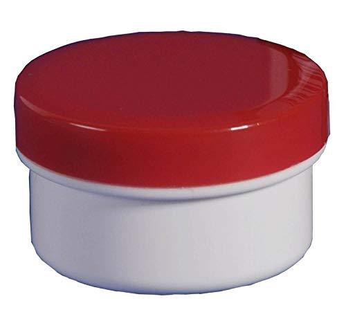 500 Salbendosen, Salbendose Probedöschen 5 g 6ml Deckel rot Salbendöschen -