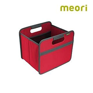 Faltbox Classic Small Hibiskus Rot / Uni 32x26,5x27,5cm stabil abwischbar Polyester Premium Wohnen Dekoration Einrichtung Möbel Sortierung Regal Aufbewahren Verstauen Ordnungssystem