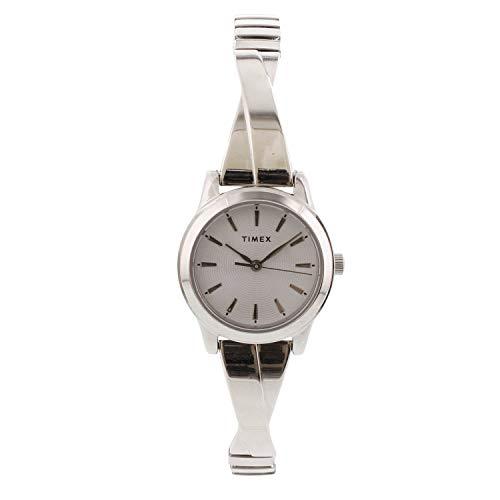 Timex Women's Stretch Bangle TW2R98700 Silver Stainless-Steel Japanese Quartz Fashion Watch