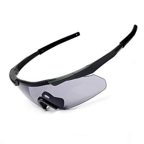 Daesar Unisex Schutzbrille Beschlagfrei Schießbrille Verstellbar Motorradbrille Retro Grün