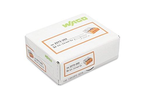 Wago 2273-203 Compact-Dosenklemme 3 x 0.5-2.5 qmm Nr.2273-203 100 Stück, orange - Bild 4