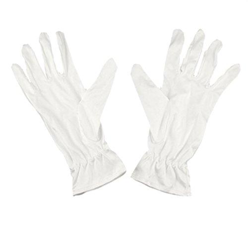 Paar weiß Mikrofaser Jewelry Uhr Silber inspektionsarbeiten Handschuhe XS (Herren Polyester Handschuh)