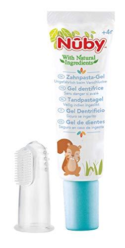 Nuby - Kinderzahncreme und Fingerzahnbürste (1 x 20 ml)