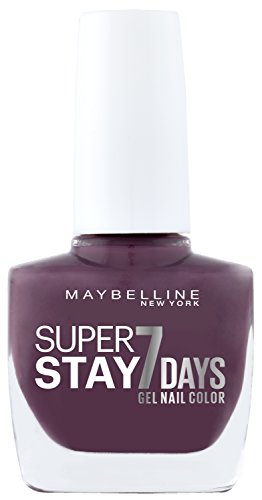 Maybelline New York Make-Up Super Stay Nailpolish Forever Strong 7 Days Finish Gel Nagellack Mauve On / Farblack mit ultra starkem Halt ohne UV Lampe in dunklem Violett, 1 x 10 ml (Make-up Forever Uv)