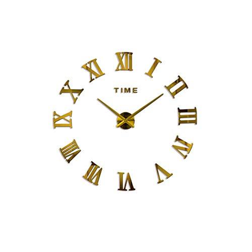 Little-Goldfish Wall Clock Wanduhr 2019 Wanduhr Kurze Quarzuhr Stil Wanduhr Große Wanduhr Home Decor Wohnzimmer Uhren 37inch Gold