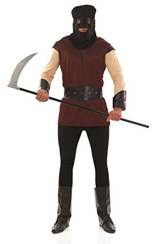 Henker Mittelalterliche Kostüm - Fancy-Me Mittelalterlicher Henker für Herren, historisches Halloween-Kostüm, Größe M - XL (XL)