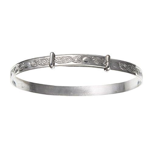 Baby-Armreif, Armband, für kleine Babys, irischer/keltischer Knoten, erweiterbar -925er-Sterling-Silber, Lieferung erfolgt in Geschenkbox oder Geschenkbeutel