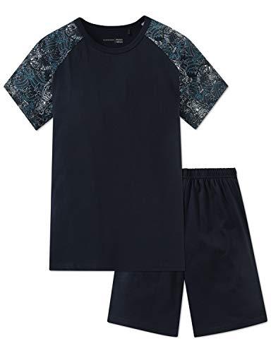 Schiesser Jungen Zweiteiliger Schlafanzug Anzug kurz Grau (Graphit 207) 152 (Herstellergröße: S)
