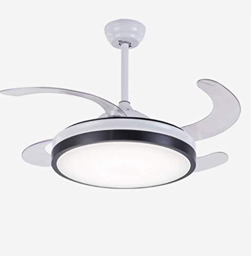 Minimalistische Deckenventilatoren Mit Lampe, Wohnzimmer Lüfter Kronleuchter Kreative Fan Anhänger Beleuchtung, Led Fernbedienung Schalter - 42 Zoll -