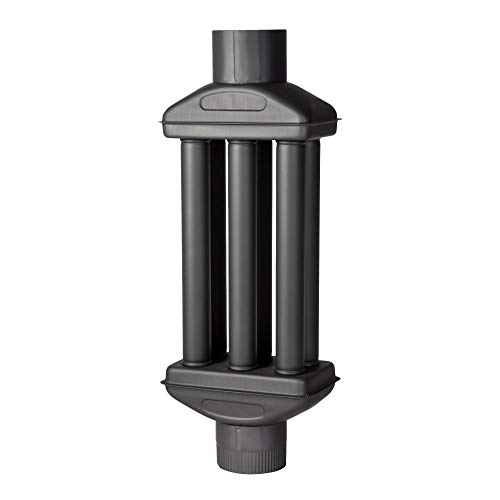 acerto 30219 Abgaswärmetauscher 150x900mm - schwarz * Energie sparen * Leichte Reinigung * Einfacher Einbau | Warmlufttauscher, Rauchgaskühler zum Nachrüsten | Kaminrohr, Abgasrohr, Ofenrohr für Öfen -
