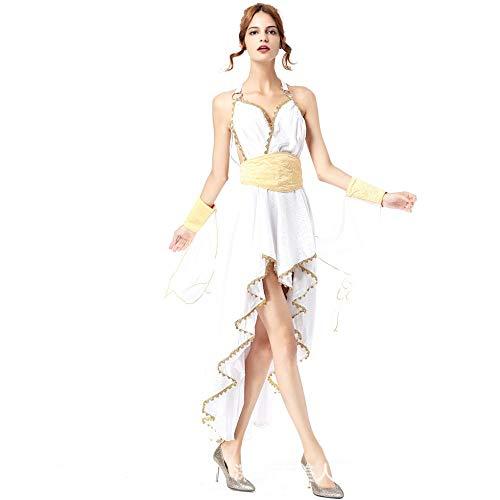 Halloween Meine Damen Cosplay Kostüme Arabische Griechische Göttin Princess Dress Party Kleid, Weiß, Größe (Griechische Göttin Kostüm Muster)
