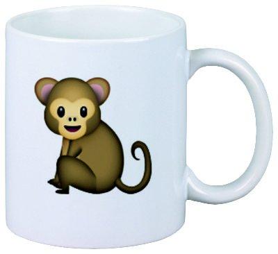 "Tazza ""scimmia"" Ceramica - Dimensioni: Ø8,5 H 9,5 cm - Tazza di Caffè - Coffee- Smiley - Emoji - Punte di Natale"