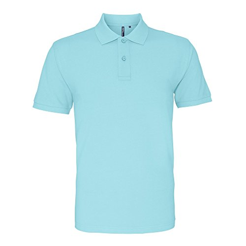 Asquith & Fox Herren Polo-Shirt, Kurzarm Himmelblau