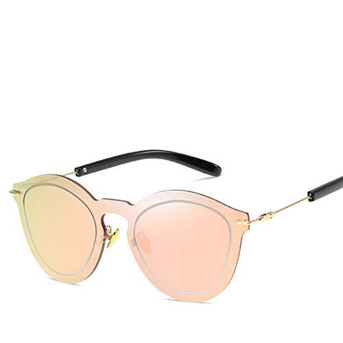 SUPOFAIXIN Randlose Vintage rosa Farbe Sonnenbrille Frauen Cat Eye Shades Sonnenbrille für Männer Spiegel Gläser weiblich