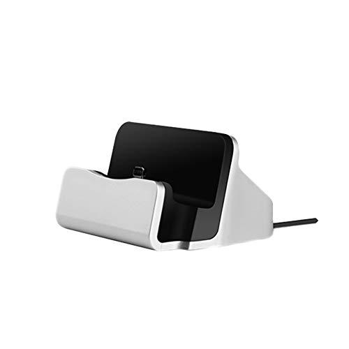 Romote Telefon Dock Ladestation, Ladestation, kompatibel mit iPhone X 8 7 6 USB-Kabel, Sync Cradle, Ladegerät, Sliver Cradle-kabel