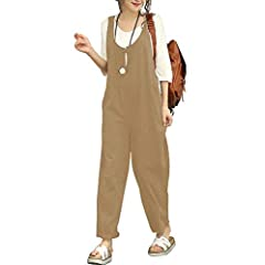 2c5d6d12f22 Sobrisah Women s Strappy Jumpsuits Overalls Casual Harem Wide .